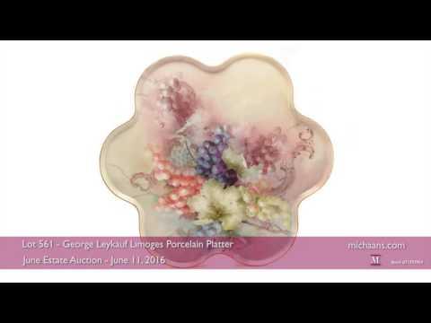 George Leykauf Limoges Porcelain Platter