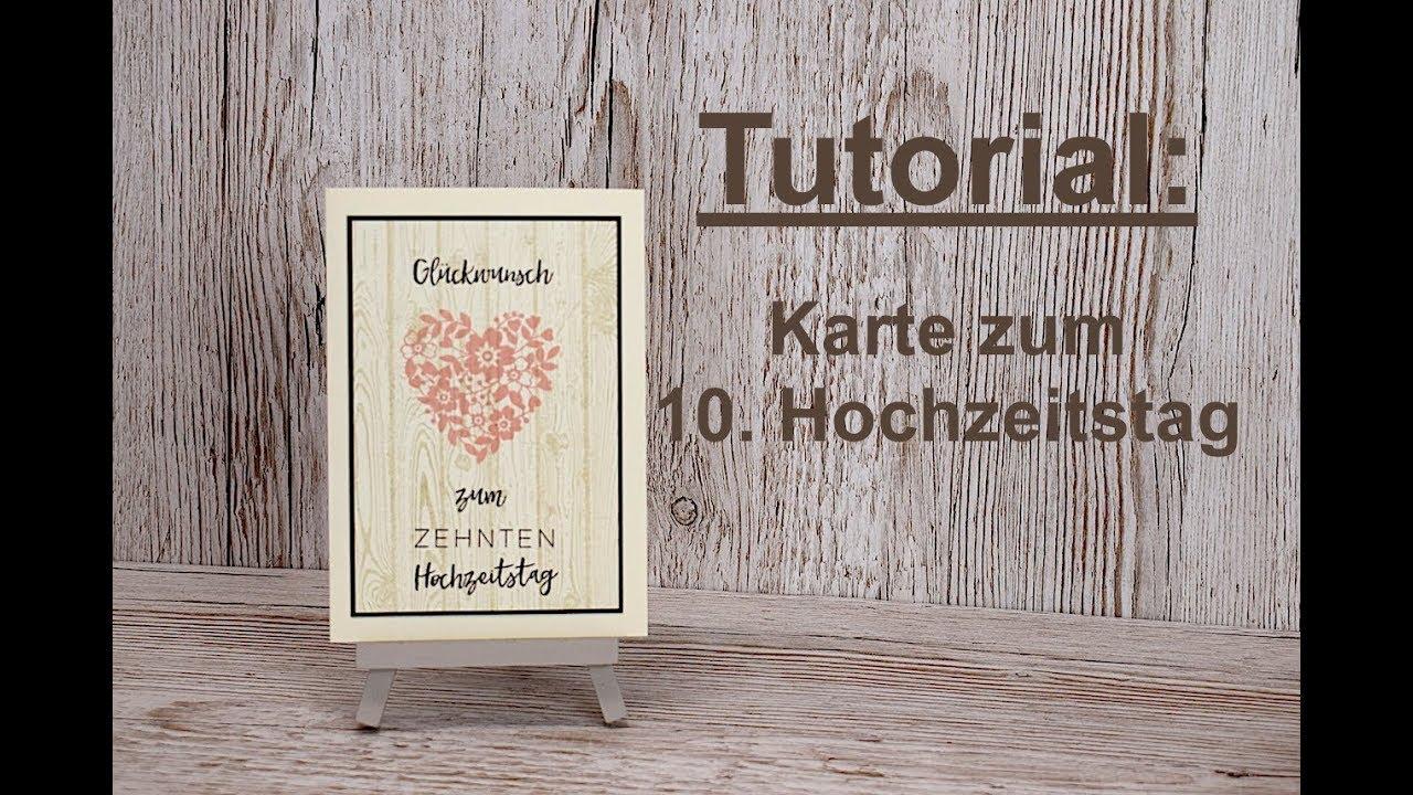 Karte Zur Holzernen Hochzeit Basteln Stampin Up Youtube