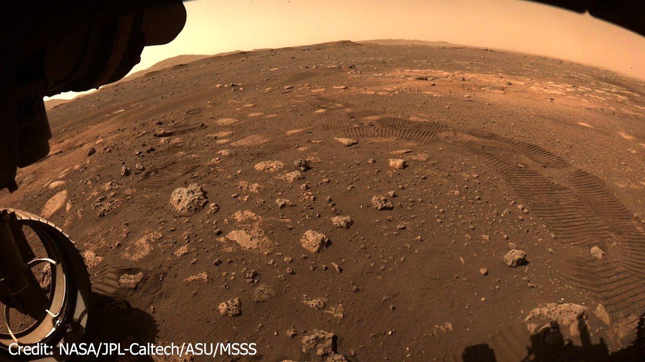 Mission Mars 2020 - Rover Perseverance - Der Rover fährt