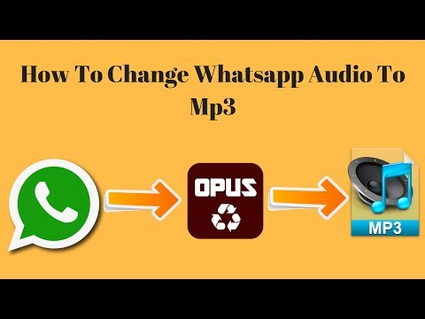 How To Convert Whatsapp Audio To Mp3 Latest Method 2017 In Hindi | Opus To Mp3