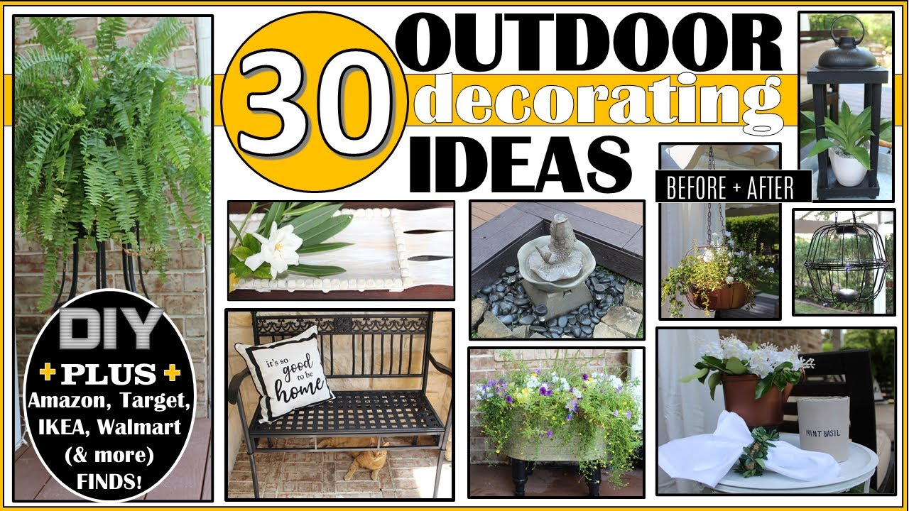 30 Outdoor Decorating Ideas Diy Porch Patio Deck New 200 Ideas From Amazon Ikea Target More Youtube