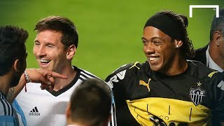 Ronaldinho look-alike meets Messi