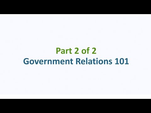 Advocacy 101 – Part 2: Government Relations 101