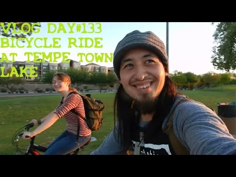 VLOG DAY#133 BICYCLE RIDE AT TEMPE TOWN LAKE ARIZONA