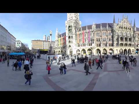 Munich landmarks in 360/VR