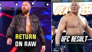 Dean Ambrose RAW RETURN REVEALED ! Brock Lesnar UFC Fight & Result !