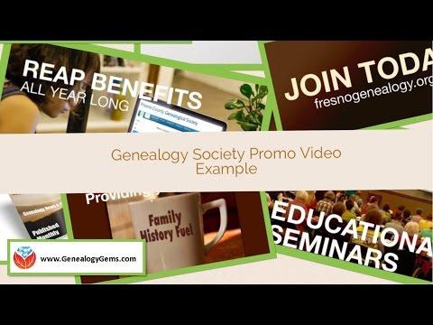 Genealogy Society Video Example: The Fresno Genealogical Society