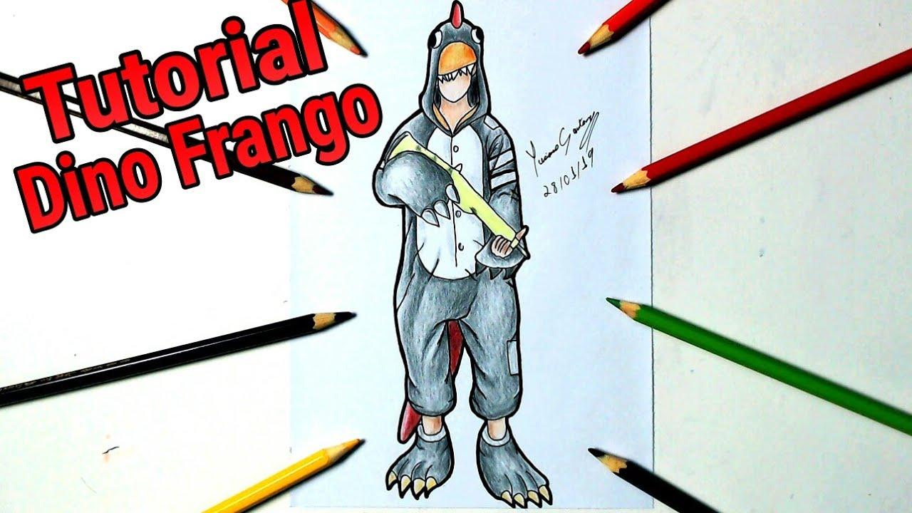Como Desenhar A Skin Do Dino Frango Frre Fire How To Draw