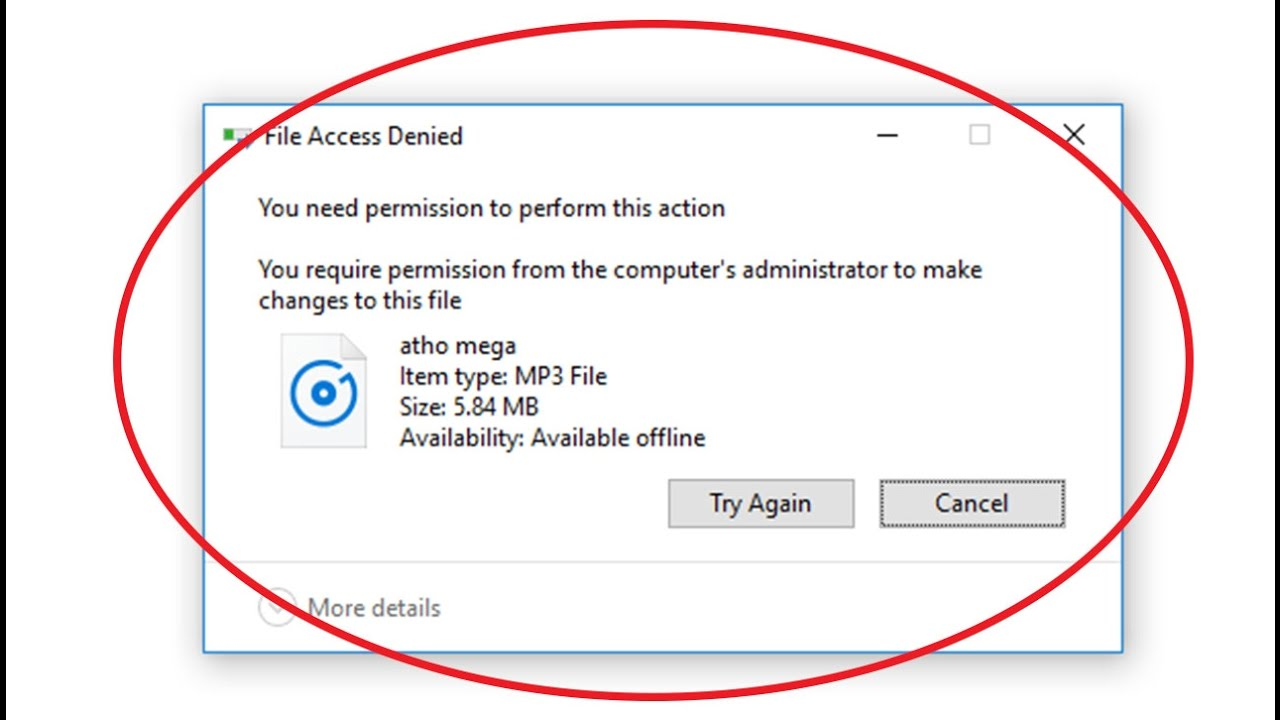 "Fix ""you need permission to perform this action"" error."