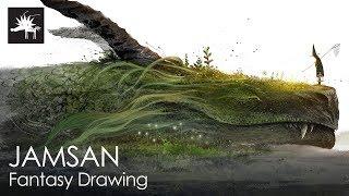 Dargon | Jamsan, Fantasy, Drawing, watercolor, art, illust, illustrator, speed painting