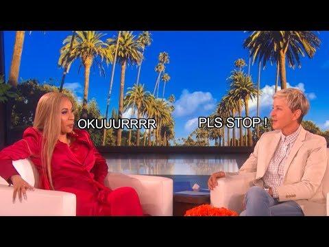 Cardi B keeps making weird sounds with Ellen !!!