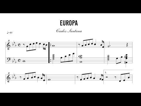 Partitura: Carlos Santana - Europa | Clases de Produccion de Partituras