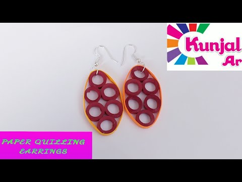 HOW TO MAKE PAPER QUILLING EARRINGS / SIMPLE EASY TO MAKE DIY EARRINGS / JEWELLERY/ ACCESSORIES