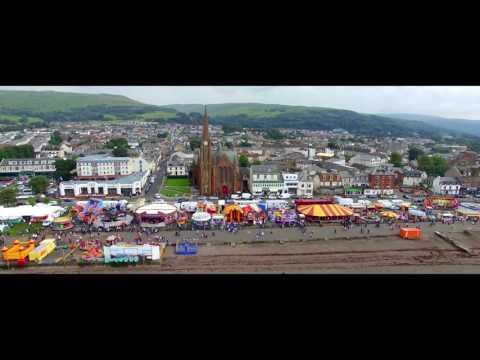 Largs Viking Festival by Drone in 4K