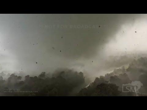 05-02-2021 Yazoo City, MS - Damaging Tornado Close Range Drone