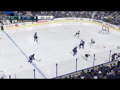 San Jose Sharks Vs. St. Louis Blues NHL 17