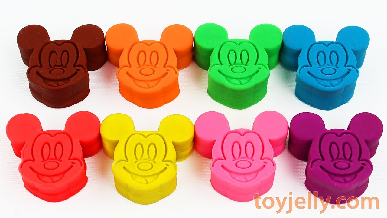 Toys For Boys To Color : Learn colors and numbers with 8 color play doh candy mold toys