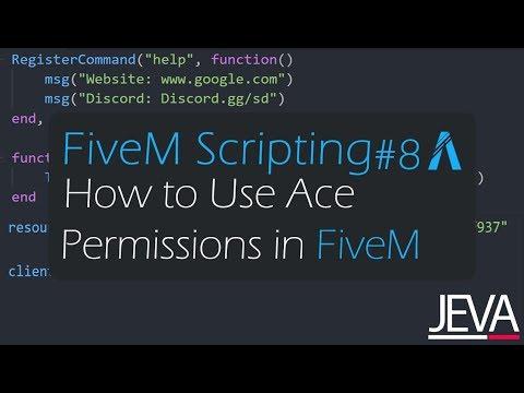 FiveM Scripting 8 - Using Ace Permissions