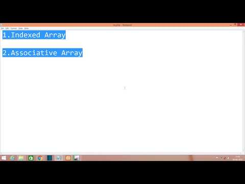 14 Indexed Array Vs Associative Array In Php