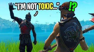 I played with tнe NICEST black knight I ever met in Fortnite... (he's SUPER friendly)