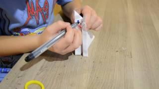 Как сделать кошку из бумаги / Мастер-класс от Макара