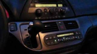 Honda Odyssey iPhone, iPod, AUX adapter installation for 2005, 2006, 2007, 2008, 2009, 2010 models