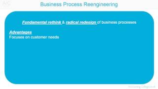 ACCA P5 Business Process Re-engineering Revision Theory