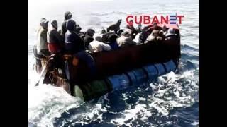 Guardafronteras cubanos hostigan a balseros en alta mar