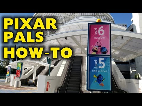 Full Tour of Pixar Pals Parking structure | How to enter - How to Park 2019-06-22