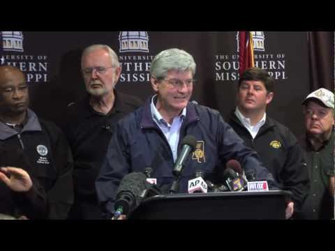 Governor Phil Bryant Press Conference on South Mississippi Tornado - Feb. 11, 2013