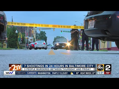 Baltimore sees 7 shootings, 3 dead in 24 hours