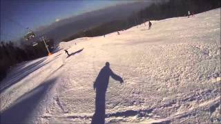 Snowboarding in beautiful Slovenia