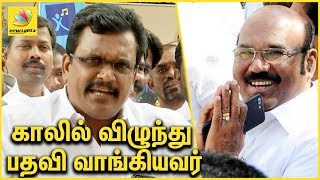 காலில் விழுந்து பதவி வாங்கியவர்   Thanga Tamil Selvan against Jayakumar   Latest speech