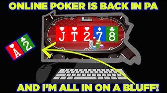 LOTS OF ACTION PLAYING LEGAL ONLINE POKER IN PENNSYLVANIA!!!