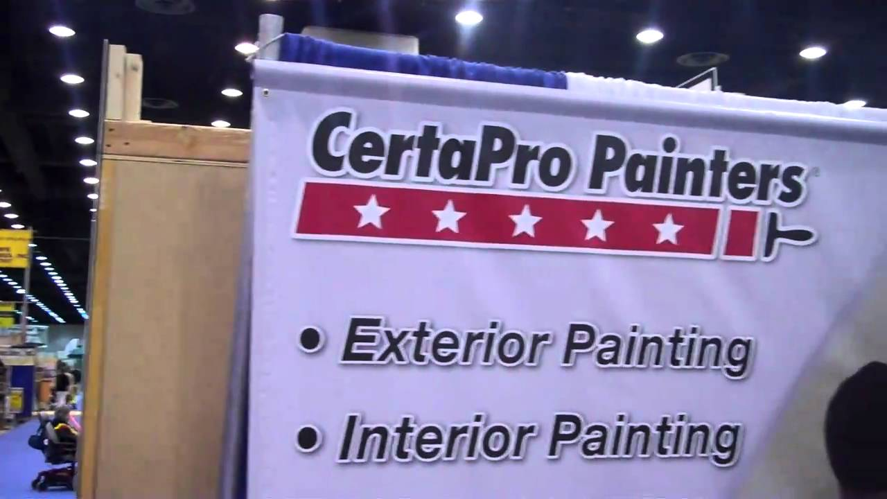 Overview Of CertaPro Painters Display At Louisville Home And Garden Show