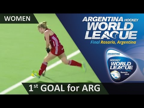 ARG 0-1 GBR Owsley Finishes Off A Flowing Move To Open The Scoring #HWL2015 #Rosario