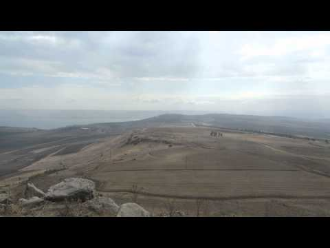 Jesus Trail, Israel - an observation from  Horns of Hattin to Mount Tabor and the Sea of Galilee