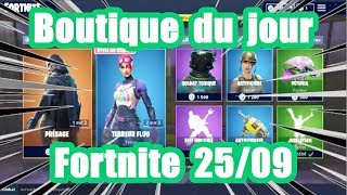 [ Fortnite ] La boutique du jour 25 septembre