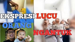 (REACTION)EKSPRESI ORANG NGANTUK DI PAKSA BANGUN!!!