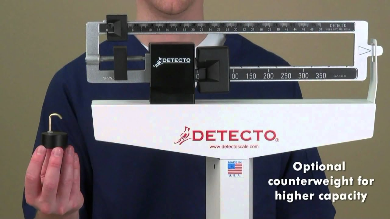 detecto usamade eye level physician scales demo - Detecto Scales