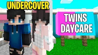 Mom Ran TWINS ONLY Daycare.. We Went Undercover! (Minecraft)