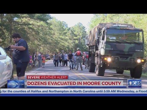 Dozens evacuated in Moore County