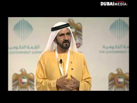 H. H. Sheikh Mohammed at The Government Summit; video by Dubai Media Inc.
