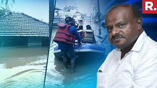 Karnataka CM HD Kumaraswamy Reviews Flood Situation In Kodagu, Karnataka