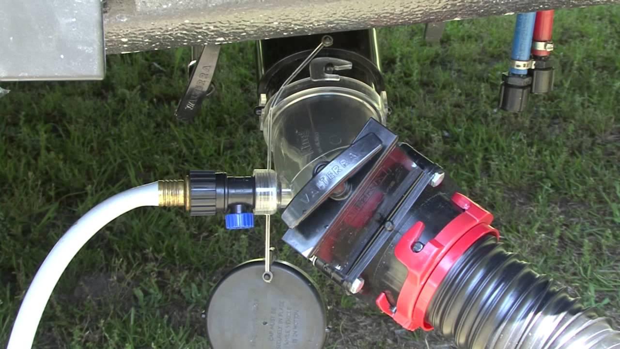 Flush King Rv Holding Tank Flush Valve Youtube