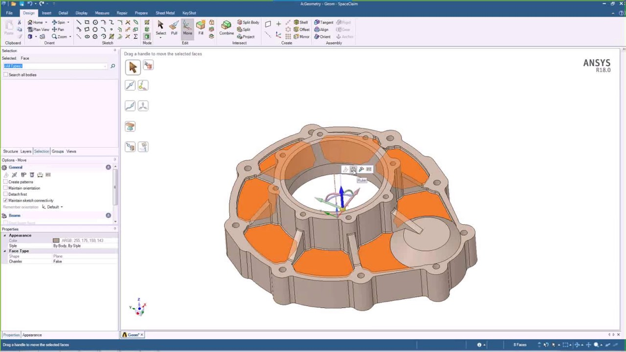 SpaceClaim Direct Modeler for Parametric Analysis - ANSYS e-Learning