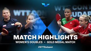 Olga Vorobeva/Yana Noskova vs Szandra Pergel/Dora Madarasz | WTT Contender Budapest 2021 (Final)