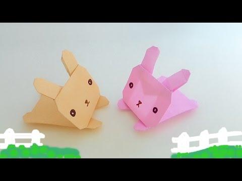 Origami jumping Bunny / พับกระดาษ กระต่ายวิ่งเล่น