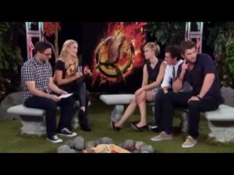 Catching Fire Tribute Interview With Jennifer Lawrence, Josh Hutcherson and Liam Hemsworth Part 2