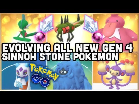 ALL NEW GEN 4 SINNOH STONE EVOLUTIONS IN POKEMON GO | GALLADE YANMEGA FROSLASS TANGROWTH & MORE thumbnail